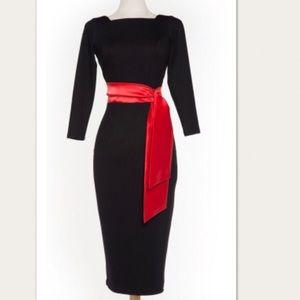PinUp Couture Maria Black Ponte Wiggle Dress